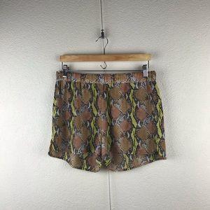 Equipment l Silk Snakeskin Python Print Hot Shorts